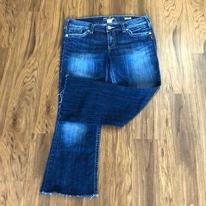 Silver jeans Suki bootcut distressed denim